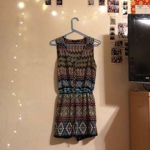 Colorful Romper with unique pattern